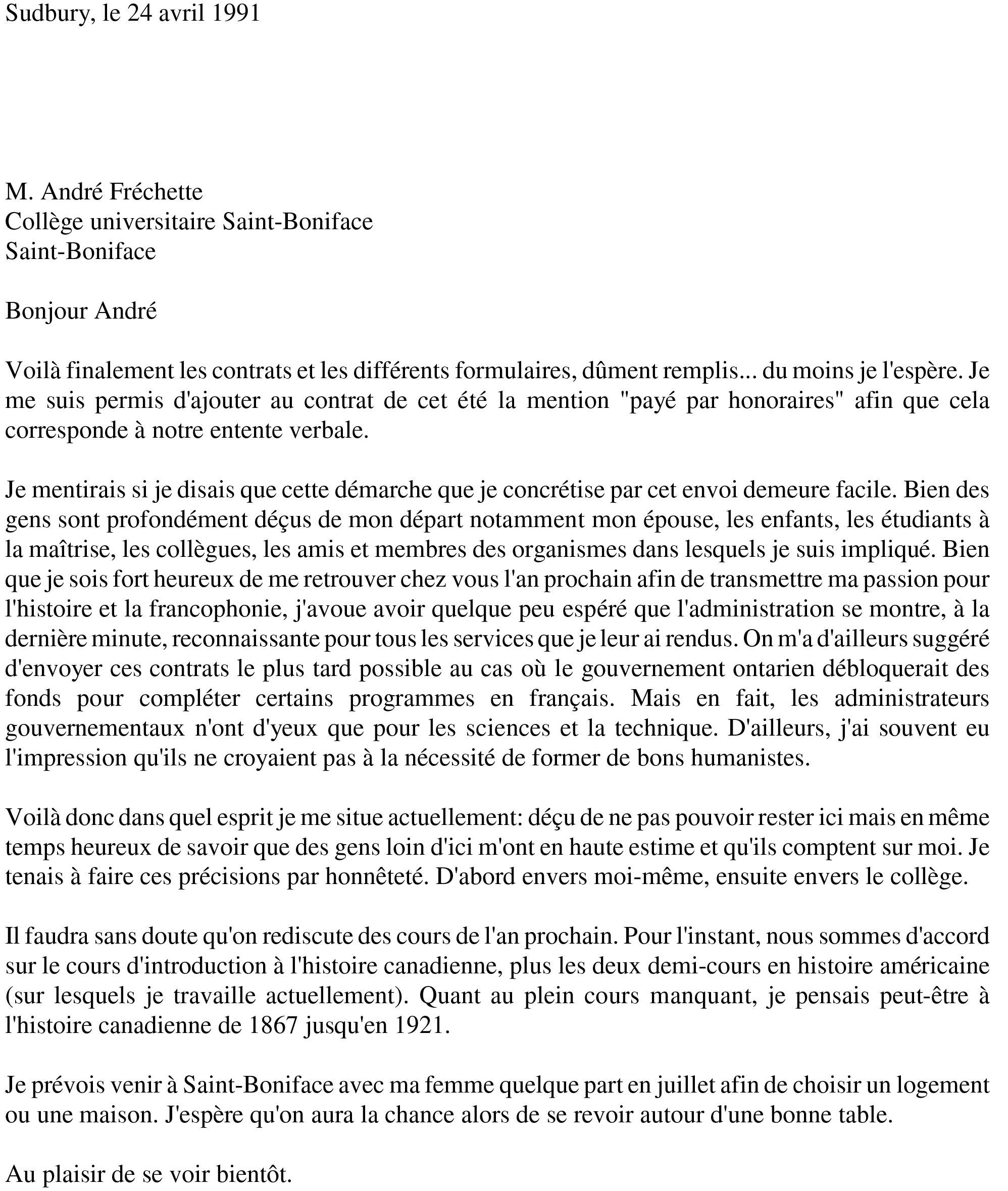 modele lettre de demission contrat doctoral